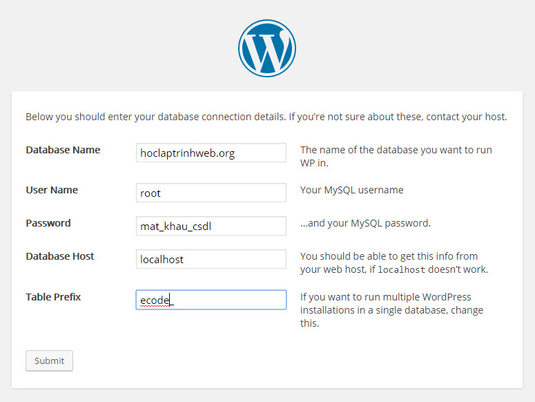 cai dat wordpress 5
